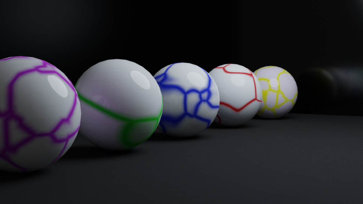 Blender-Rendered marbles